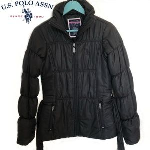 Us POLO assn black puffer jacket size small.